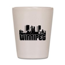 Winnipeg Skyline Shot Glass