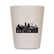 Cleveland Skyline Shot Glass