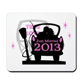 Drive In Newlyweds 2013 Mousepad