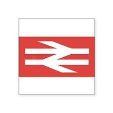 "British Rail Logo Square Sticker 3"" x 3"""