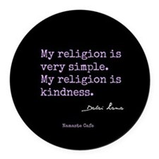 My Religion is Kindness Round Car Magnet