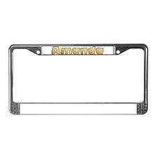 Amanda Toasted License Plate Frame