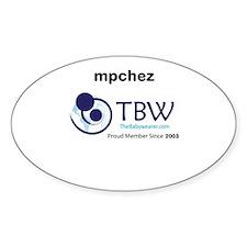 Proud Member Shirts Sticker (Oval)
