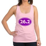 26.2 Oval - Purple Racerback Tank Top