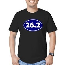 26.2 Oval - Navy Blue T