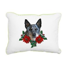 Blue Heeler Christmas.png Rectangular Canvas Pillo