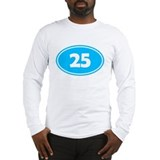 25k Oval - Sky Blue Long Sleeve T-Shirt