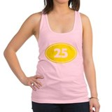 25k Oval - Yellow Racerback Tank Top