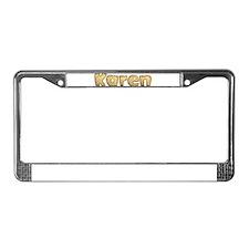 Karen Toasted License Plate Frame
