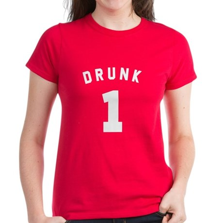 Custom Drunk Womens T-Shirt