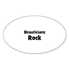 BEAUTICIANS Rock Oval Decal