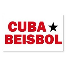 Cuba Beisbol Rectangle Decal