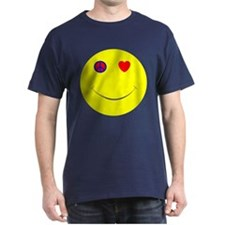Peace Love Happiness Black T-Shirt