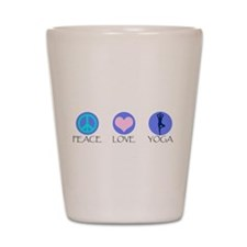 PEACE LOVE YOGA Shot Glass