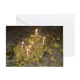 Single Flaming Biscuit birthday card