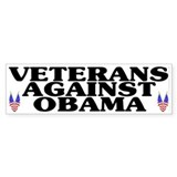 Veterans against Obama (old) - Bumper Sticker