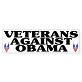 Veterans against Obama (old) - Car Sticker