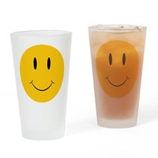 Happy Orange Face Drinking Glass