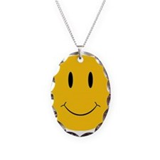 Happy Orange Face Necklace