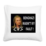 WHOSE FAULT IS IT? Square Canvas Pillow