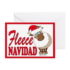 Fleece Navidad (white) Christmas Card