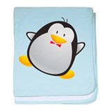 Cute and Cuddly Baby Penguin baby blanket