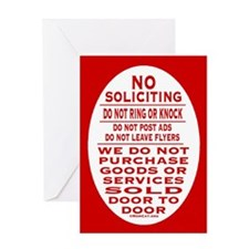 No Soliciting Greeting Card
