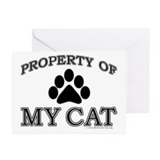 Property of My Cat Greeting Card (10 pk)