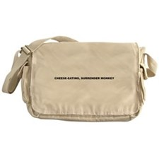 cheese-eating, surrender monkey Messenger Bag
