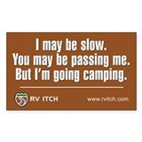 RV Itch I'm Going Camping  Aufkleber