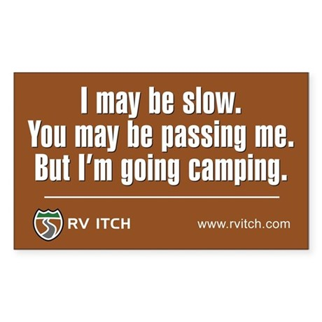 RV Itch I'm Going Camping Sticker