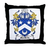 MacBeth Coat of Arms Throw Pillow