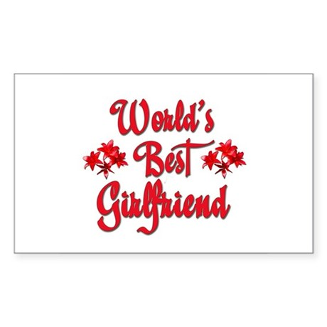 World's Best Girlfriend Rectangle Sticker
