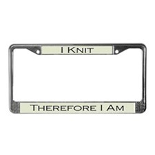I Knit Therfore I am License Plate Frame