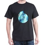 Blue Ammonite Black T-Shirt