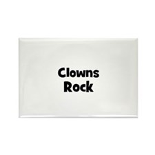 CLOWNS Rock Rectangle Magnet (10 pack)