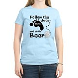 Follow The Dots And Drink Beer T-Shirt