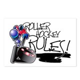 Roller Hockey Rules! Postcards (Package of 8)