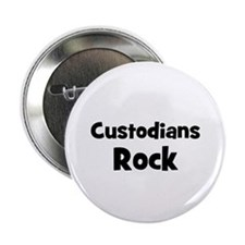 "CUSTODIANS Rock 2.25"" Button (10 pack)"