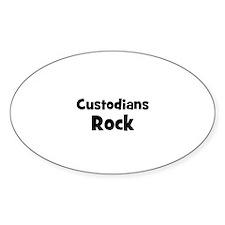 CUSTODIANS Rock Oval Decal