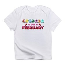 Brandon is Due in February.png Infant T-Shirt