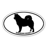Siberian Husky BW Decal