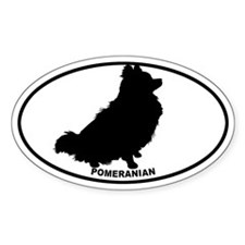Pomeranian BW Decal