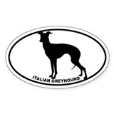 Italian Greyhound BW Decal