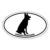 German Shepherd BW Decal
