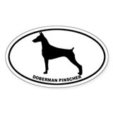 Doberman BW Decal
