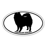 American Eskimo BW Decal