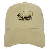 Victorian Pig Baseball Cap