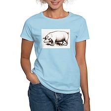 Victorian Pig Women's Pink T-Shirt
