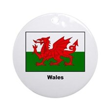 Wales Welsh Flag Ornament (Round)